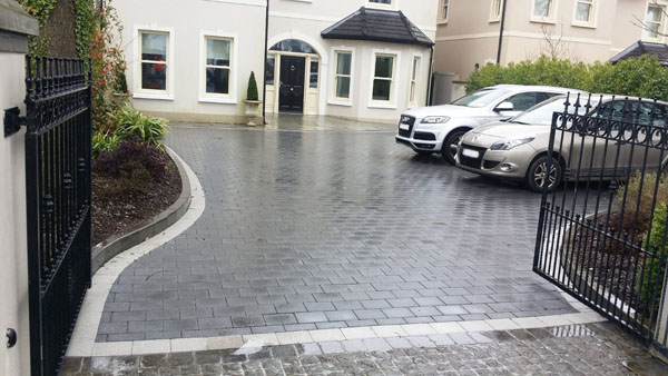 block paving drives cork