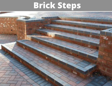 brick steps cork